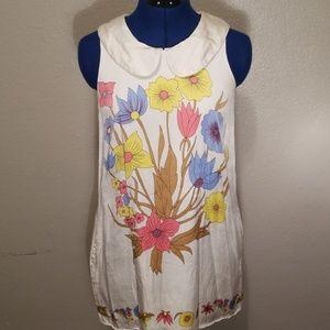 white floral dress worn